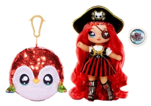 Laleczka  Na! Na! Na! Surprise Sparkle 2-in-1 Pom Doll BECKY BUCKANEER